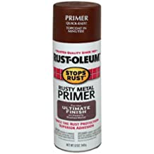 Rust-Oleum 7769830 Stops Rust Spray Paint, 12-Ounce, Flat Rusty Metal Primer