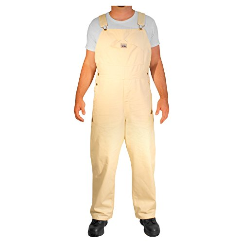Rugged Blue Painter Bib Overalls - Natural - 42x32
