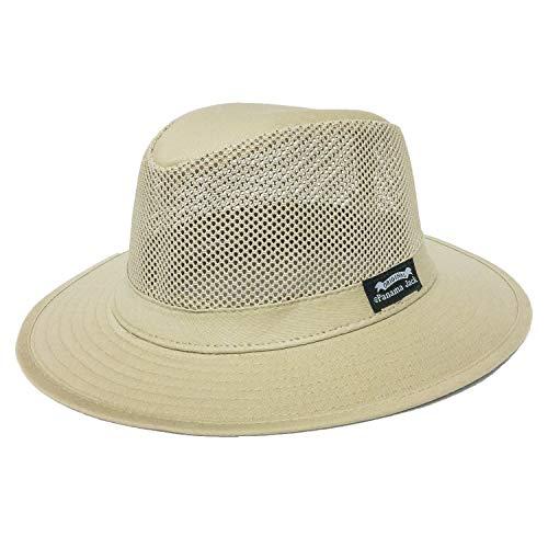 Panama Jack Men's Mesh Safari Hat M Khaki