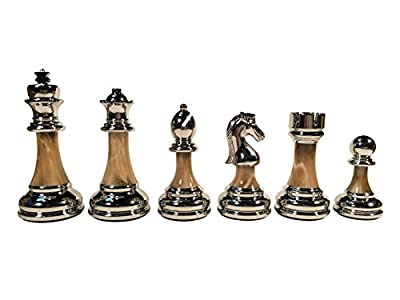 The Bobby Fischer Series Metal & Acrylic Chess Pieces – 3.5 inch King