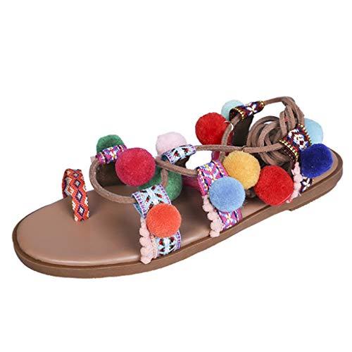 YKARITIANNA Women Summer Bohemian Cross Straps Long Tube Sandals Casual Beach Sandals 2019 Summer Red