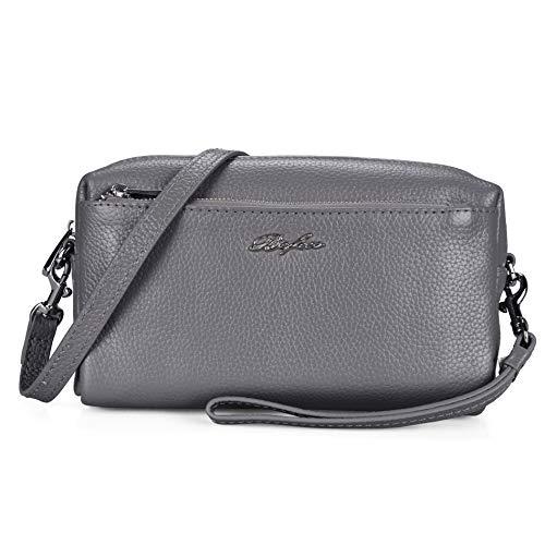 Befen Women Full Grain Leather Tripple Zip Crossbody Bag Crossbody ...
