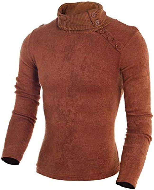 Męski sweter wiosna jesień casual Knit wysoki elegancki kołnierz normalny sweter istotnie dziany top moda długi rękaw sweter dziergany: Odzież
