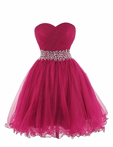 Ysmo - Vestido - trapecio - para mujer Rosa Roja