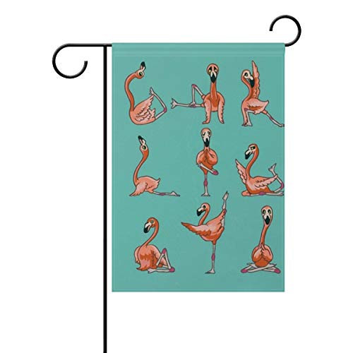 NRDSZT Flamingo Yoga Home Garden Flag Vertical Double Sided Spring Summer Yard Outdoor Decorative