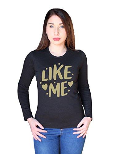 BENVESTI Top à Manches Longues Femme Like Me Mode Personnalisé LSW.B03