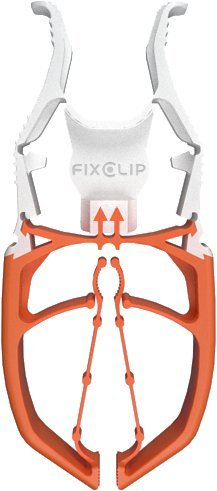FIXCLIP - The Storm Proof & Lockable Clothespin - Keeps Your Towels Aboard - Boats - RVs - Bowrails - Lifelines - Beach Chair - Camping - Fishing - Balconies - Strollers - 6-Pack (White/Orange)