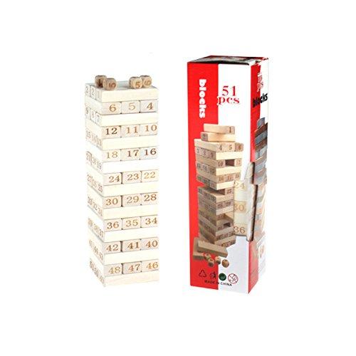 【未使用品】 Mecar Large木製TumblingタワーStacking Mecar Game 11インチ 11インチ Game B07CGXNRGX, 鳴子町:8349c2e5 --- dou13magadan.ru