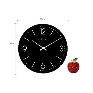 "NeXtime Reloj de pared ""BASIC DOME"", muy silencioso, redondo, negro, ø 35 cm 4"