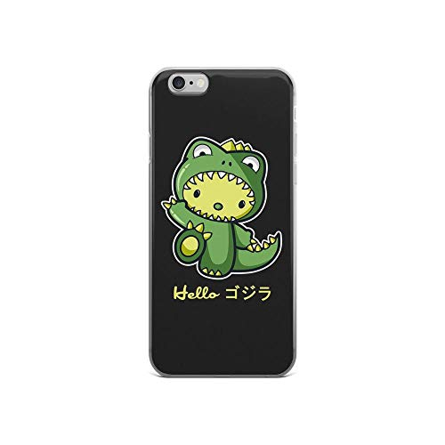 iPhone 6/6s Pure Clear Case Cases Cover Hello Kitty Cute God-Zilla Kaiju Monster