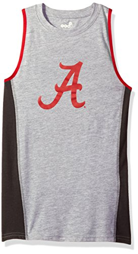Crimson Youth Fan Gear - OuterStuff NCAA Alabama Crimson Tide Youth 8-20 Fan Gear Tank Shirt, Large (14-16), Heather Grey