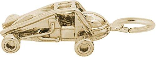 Rembrandt Sprint Car Charm - Metal - 14K Yellow Gold ()