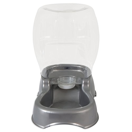 Petmate Pet Cafe Pet Waterer, 3 Gal, pearl silver gray
