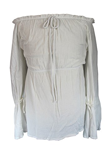 [Deluxe Angelica Shirt Top Costume Pirates of the Caribbean 4 (L)] (Potc 4 Angelica Costume)