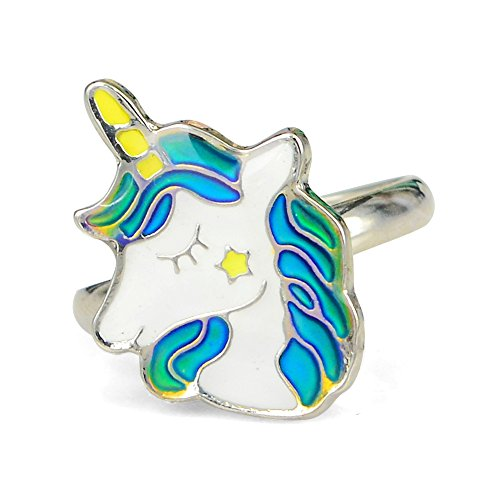 Fun Jewels Fairy Tale Cute Unicorn Kids Color Change Mood Ring for Girls Size Adjustable