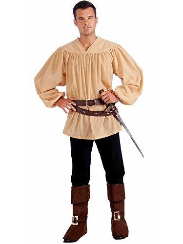 Forum Novelties Men's Extra-Large Medieval Costume Shirt, Beige, X-Large