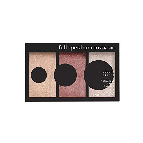 Covergirl Sculpt Expert Multiuse Cheek Palette, Bronze Flame, 0.22 Ounce