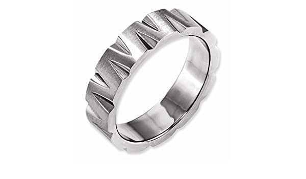 Titanium Notched 6mm Satin /& Polished Band Best Quality Free Gift Box