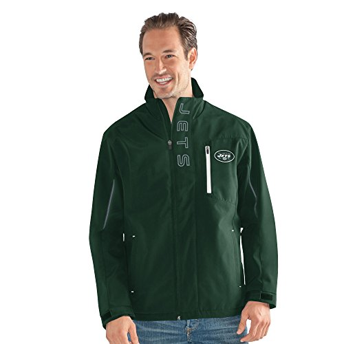 G-III Sports NFL New York Jets Adult Men Energy Soft Shell Full Zip Jacket, XX-Large, Green