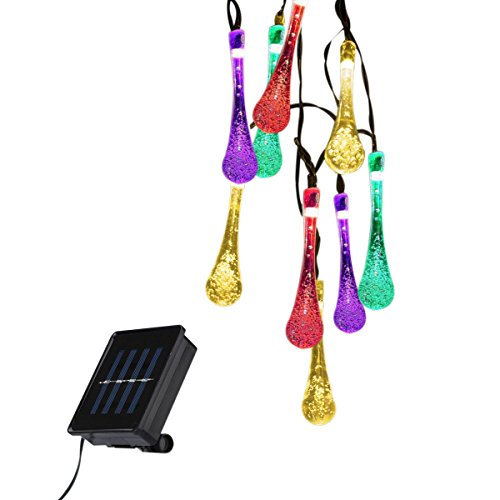 Outdoor Solar LED String Lights - Lampwin 2017 New Design 16FT 30LEDs RGB Multi Color Fairy LED Starry String Lights for Christmas, Party, Home, Patio, Garden, Holiday, and Wedding