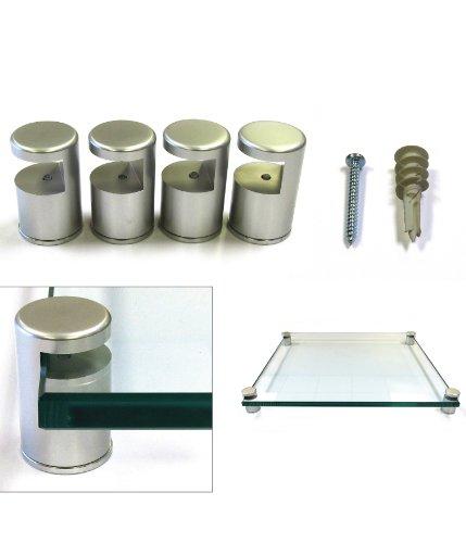 Set of 4 - 1'' Dia x 1-9/16 L - Aluminum Edge Grip Support