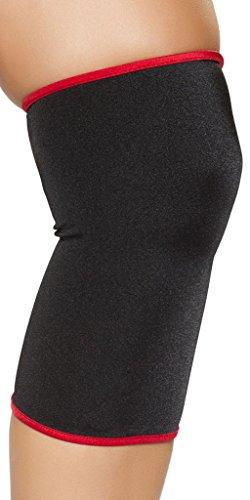 Sexy Mortal Kombat Costumes (Mortal Kombat Knee Pads Costume Accessory - Black/Red - One Size Fits Most)