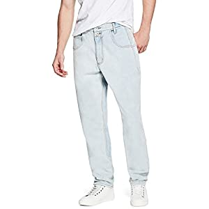 3db12087 GUESS Factory Men's Pascal Relaxed Tapered Jeans