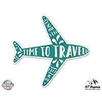 GT Graphics Time to Travel Cute Airplane - Vinyl Sticker Waterproof Decal