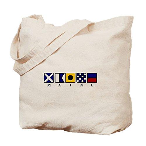CafePress - Maine - Natural Canvas Tote Bag, Cloth Shopping - Shopping Maine Bangor