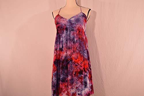 Women's Large Ice Dyed Tie Dye Dress Spaghetti Straps by Vibe So Free