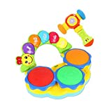 Blancho Bedding Musical Electric Baby Toys Hand Drum Instrument Percussion Set for Children, Play@Music Hammer@Blue