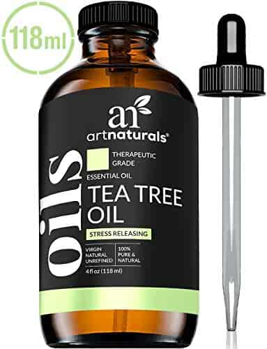 ArtNaturals 100% Pure Tea Tree Essential Oil - (4 Fl Oz / 120ml) - Natural Premium Melaleuca Therapeutic Grade - Great with Soap and Shampoo, Face and Body Wash - Antifungal Treatment for Acne, Lice