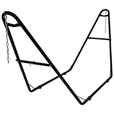 Sunnydaze 550-Pound Capacity Universal Multi-Use Heavy-Duty Steel Hammock Stand, 2 Person, Fits Hammocks 9 to 14 Feet Long, Multiple Colors Available