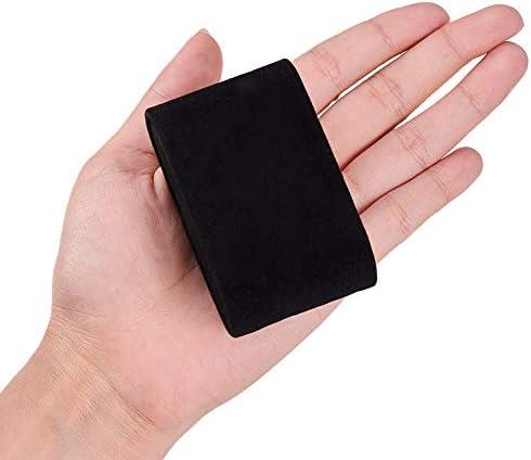 [スポンサー プロダクト]PH PandaHall 約20個セット ベルベットピロージュエリーブレスレットウォッチディスプレイ スポンジ付き 長方形 フランネル収納 ジュエリーディスプレイ リング イヤリング ネックレスブ ジュエリーディスプレイ 黒色