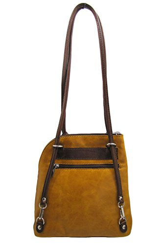 Brown Handbag Convertible Backpack Cuoieria Italian Shoulder Fiorentina Leather qOq0vYPg