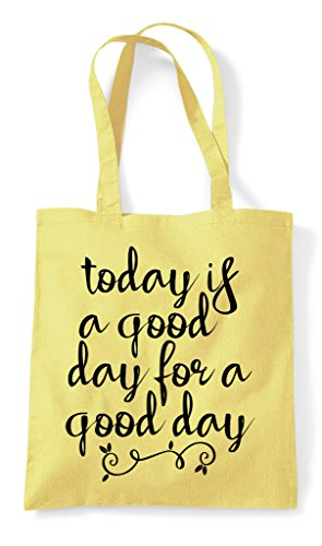 Tote Positive Shopper Bag Good Is Today Day For Statement Lemon A XnOw6UH0