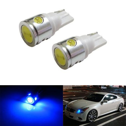 iJDMTOY 2W High Power 360-Degree Shine 168 194 2825 T10 LED Bulbs For Parking City Lights, Ultra Blue