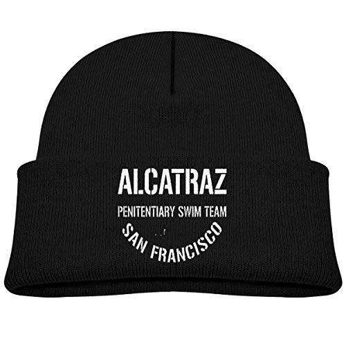 - Alcatraz Penitentiary Swim Team Kids Knitted Beanies Hat,Head Winter Hat,Knitted Skull Cap for Boys Girls Black