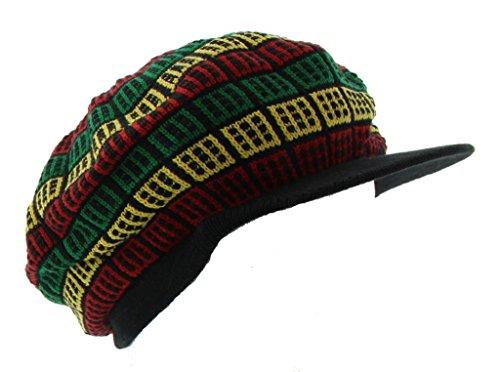 JFH Rasta Dreadlocks Visor Hat Multiple Designs and Colors (Black GYR 05)