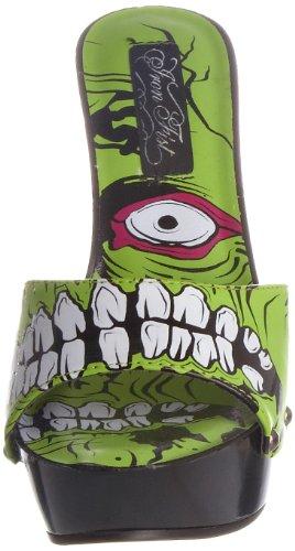 Iron Growler femmes Vert Noir Fist Noir Escarpins Zombie EBABqr