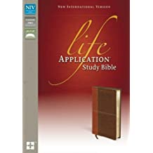 NIV, Life Application Study Bible, Leathersoft, Tan/Brown, Red Letter Edition