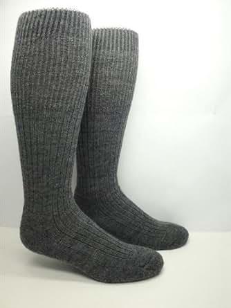 Military Heavy Wool Thermal Boot / Work Socks (2 Pairs) (Medium (5-9 Shoe))