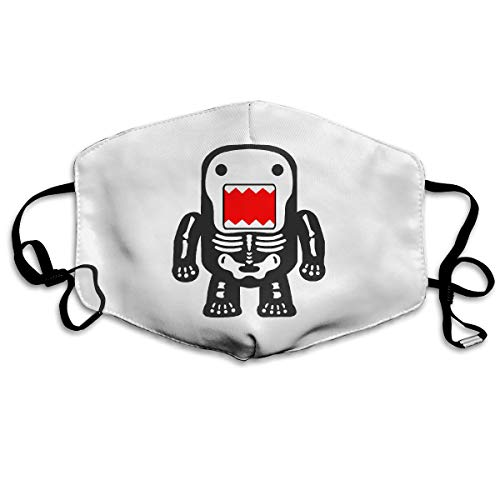 - Unisex Anti-dust Face Mask Funny Cool Domo-kun Skeleton Mouth Mask Reusable White