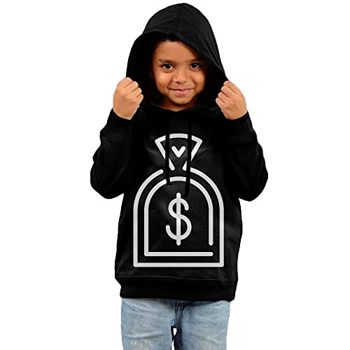 ZheuO Boys & Girls Infant Purse Casual Style Hoodie Hooded Sweatshirt 3 Toddler Black by ZheuO