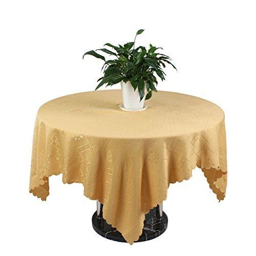 Motif eDealMax PVC fleur de mariage Parti Lavable Table Nettoyage Nappe 150cm x 150cm couleur Camel
