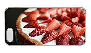 Customized iphone 5 cover thinnest Dessert cake strawberries PC Transparent for Apple iPhone 5/5S