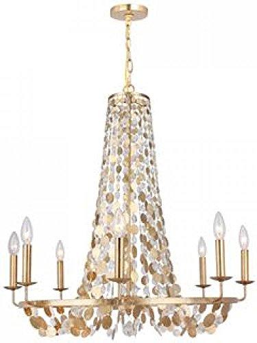 Crystorama 568-GA Bella 8 Light Chandelier in Antique Gold Finish