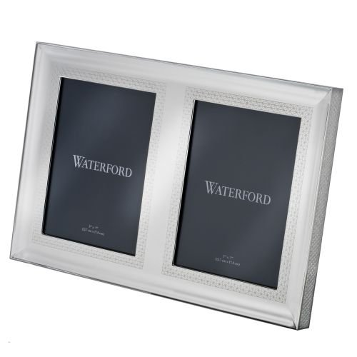 Waterford Lismore Diamond Silver 5x7'' Double Frame