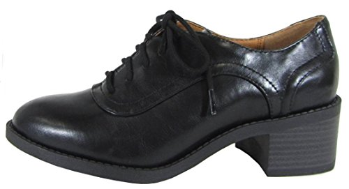 Soda Women's Lace-Up Chunky Stacked Block Heel Wingtip Oxford