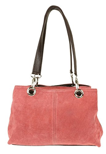 Girly Shoulder Girly Suede Bag HandBags HandBags Italian Coral Leather 7wBxqggpT